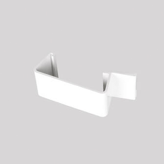 Continuous Dry Verge Straight Connector R Profile White